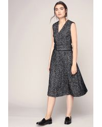 Cacharel | Black Printed Cotton Dress | Lyst