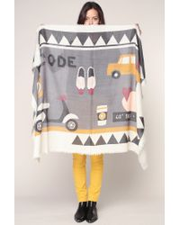 I.CODE By IKKS - Gray Scarf - Lyst