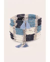 Pieces | Blue Bracelet | Lyst