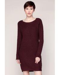 Vero Moda - Red Knitwear Dress - Lyst