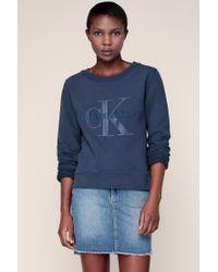 Calvin Klein | Blue Sweatshirt | Lyst