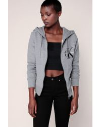 Calvin Klein | Gray Cardigans | Lyst