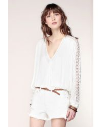 Free People | White Embroidered Tunics | Lyst
