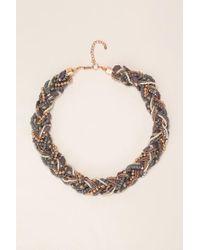 Pieces | Blue Necklace / Longcollar | Lyst