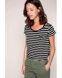 Maison Scotch - White T-shirts & Polo Shirts - Lyst