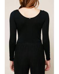IKKS - Black Bodysuit - Lyst