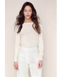 Sessun - White Jumper - Lyst