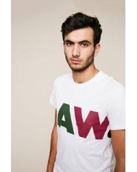 G-Star RAW - White T-shirt for Men - Lyst