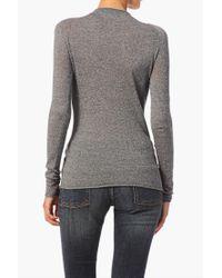 American Vintage - Gray Long Sleeve Top - Lyst