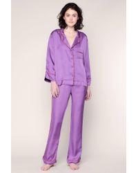 LoveStories - Purple Pyjama And Babydoll - Lyst