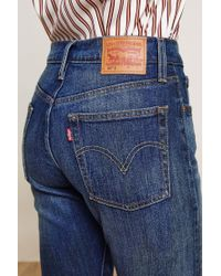 Levi's - Blue 7/8-length Jeans - Lyst