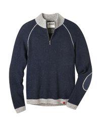 Mountain Khakis Blue Fleck Quarter Zip Sweater for men