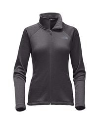 The North Face - Black Agave Full Zip Jacket - Lyst