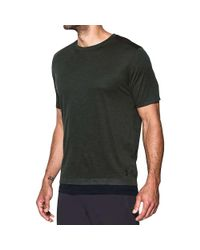Under Armour - Black The Layered Ss Tee for Men - Lyst