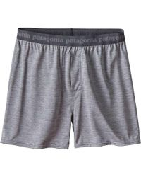 Patagonia - Gray Capilene Daily Boxer for Men - Lyst
