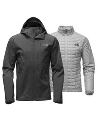 The North Face - Gray Thermoball Triclimate Jacket for Men - Lyst
