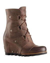 Sorel - Brown Joan Of Arctic Wedge Mid Boot - Lyst