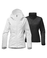 The North Face - White Clementine Triclimate Jacket - Lyst