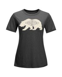 The North Face - Gray S/s Natural World Ringer Tee - Lyst