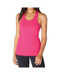 Beyond Yoga - Pink Under Lock And Keyhole Tank Top - Lyst