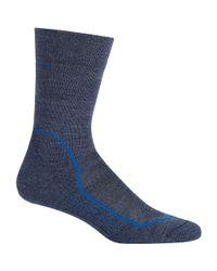 Icebreaker - Blue Hike+ Light Crew Sock for Men - Lyst