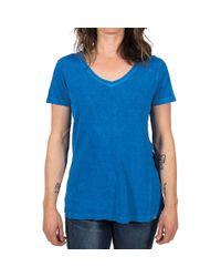 Gramicci - Blue Delia V-neck Ss Tee - Lyst