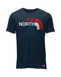 The North Face Blue Ic Ss Cotton Crew Tee for men