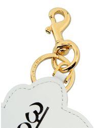 Moschino | White Key Ring | Lyst
