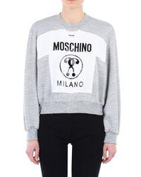 Moschino | Gray Sweatshirt | Lyst