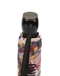 Moschino - Multicolor Foulard Openclose Umbrella - Lyst