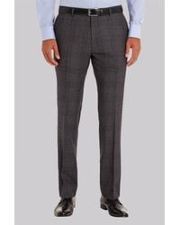 Ted Baker | Gray Tailored Fit Grey Check Trousers for Men | Lyst
