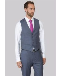 Ted Baker | Gray Tailored Fit Steel Grey Waistcoat for Men | Lyst