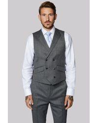Ted Baker | Gray Tailored Fit Grey Herringbone Waistcoat for Men | Lyst