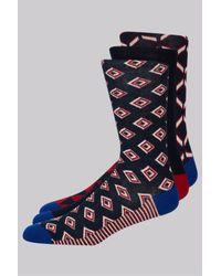 Ted Baker | Red Multi 3 Pack Sock Gift Box for Men | Lyst