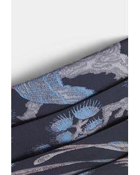 Moss London - Blue Navy Bird Cummerbund for Men - Lyst