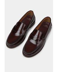 Moss London - Brown Ryder Burgundy Patent Loafer for Men - Lyst