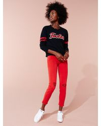 Mother - Red Looker Ankle Fray - Lyst