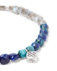 Peyote Bird - Blue Multi-stone And Sterling Silver Bracelet for Men - Lyst
