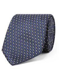 Ermenegildo Zegna - Blue 7cm Silk-jacquard Tie for Men - Lyst