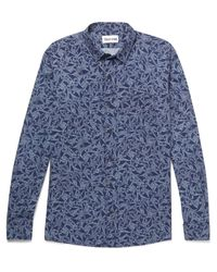 Thorsun - Blue Printed Cotton Shirt for Men - Lyst