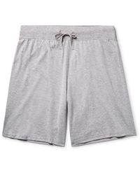 Handvaerk - Gray Mélange Pima Cotton-jersey Pyjama Shorts for Men - Lyst