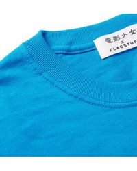 Flagstuff - Blue Printed Cotton-jersey T-shirt for Men - Lyst