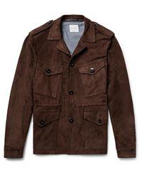 Paul Smith - Brown Slim-fit Suede Field Jacket for Men - Lyst