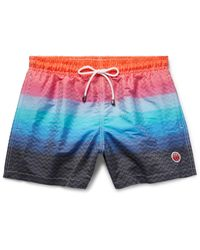 Missoni - Orange Mare Mid-length Jacquard-shell Swim Shorts for Men - Lyst