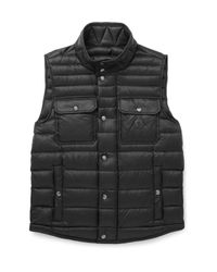 Moncler - Black Ever Light Quilted Shell Down Gilet for Men - Lyst