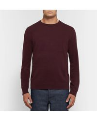 Theory - Purple Cashmere Sweater for Men - Lyst