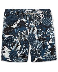 Onia | Blue Charles Mid-length Printed Swim Shorts for Men | Lyst