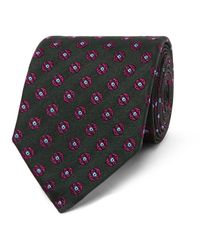 Dunhill - Green 8cm Medallion-patterned Mulberry Silk-jacquard Tie for Men - Lyst