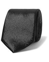 Givenchy   Black Silk Blend Lamé Tie for Men   Lyst