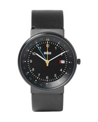 Braun   Black Bn0142 Classic Stainless Steel And Leather Watch for Men   Lyst